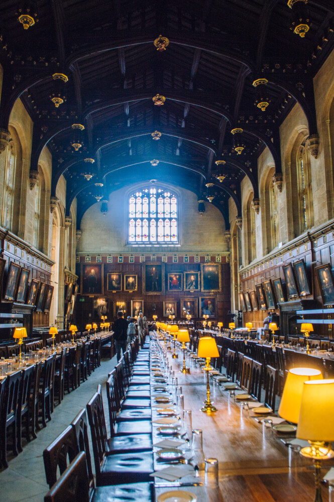 The Christchurch College Great Hall in Oxford