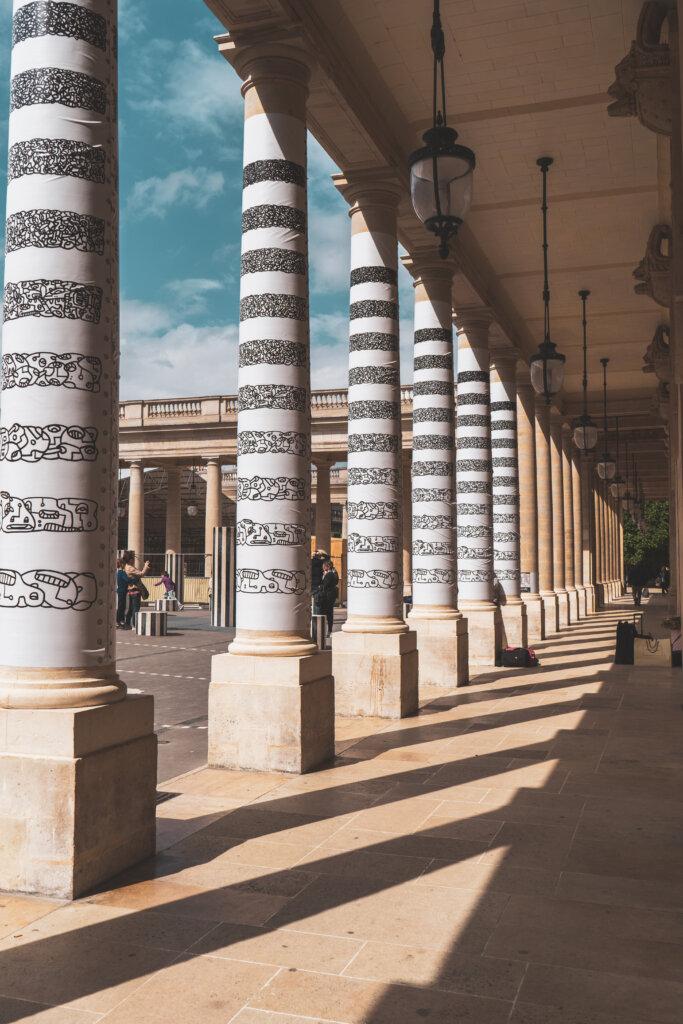 Striped columns at Palais Royal in Paris