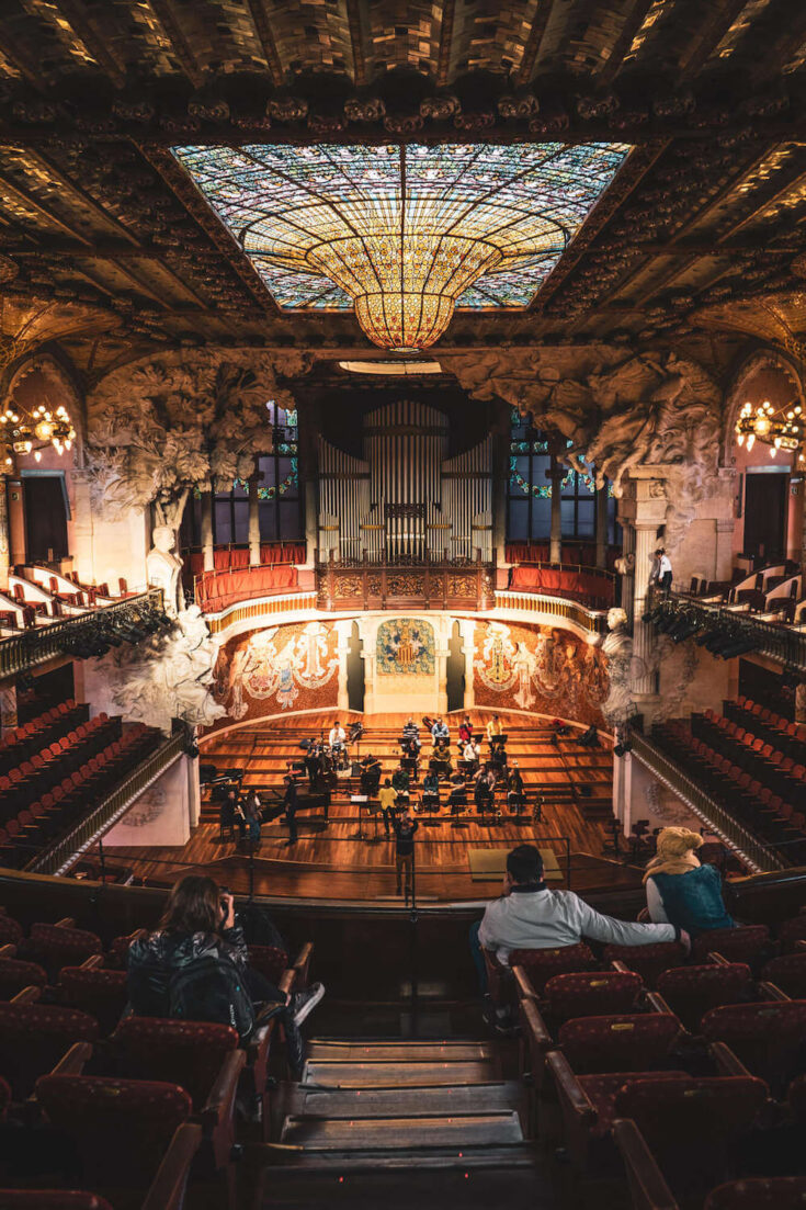 Palau de la Musica Catalana in Barcelona, Spain