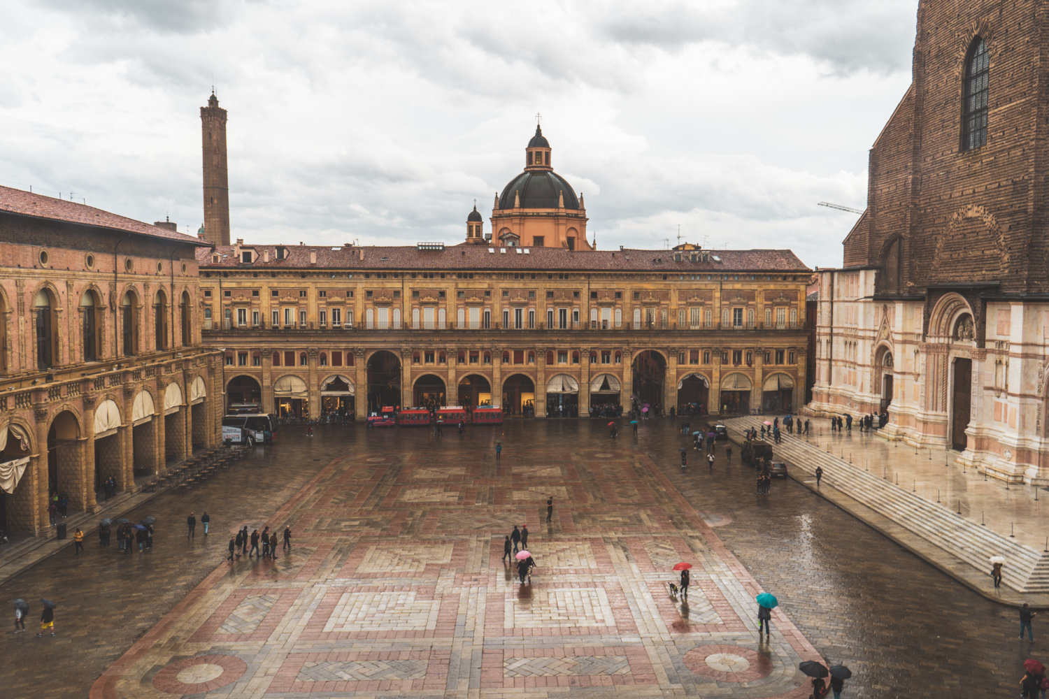 Amazing view from the Sala Farnese, Bologna italy