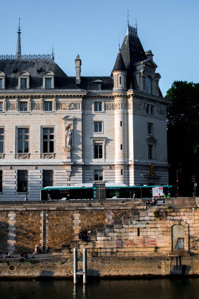 Paris Conciergerie building along the Seine