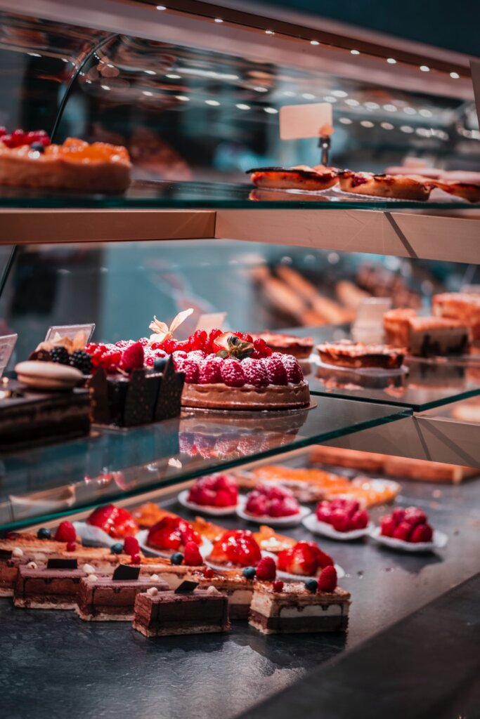 Pastries in a Parisian boulangerie