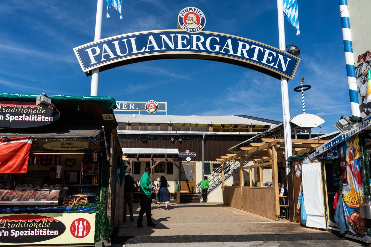 Paulaner beer garden at Oktoberfest in Munich, Germany
