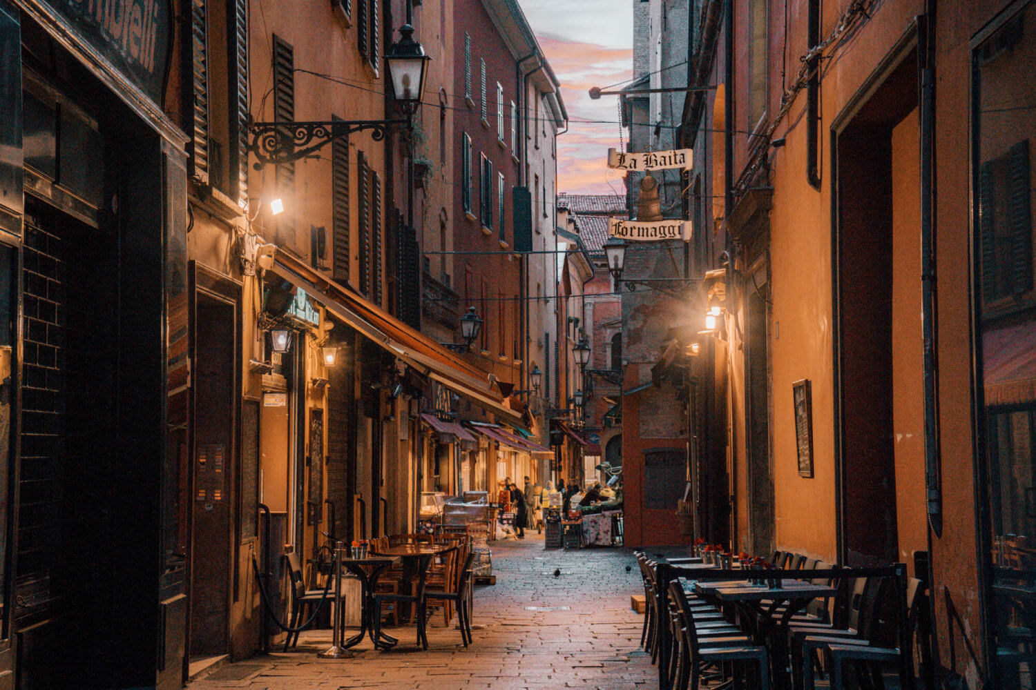 Bologna, Italy in the early morning