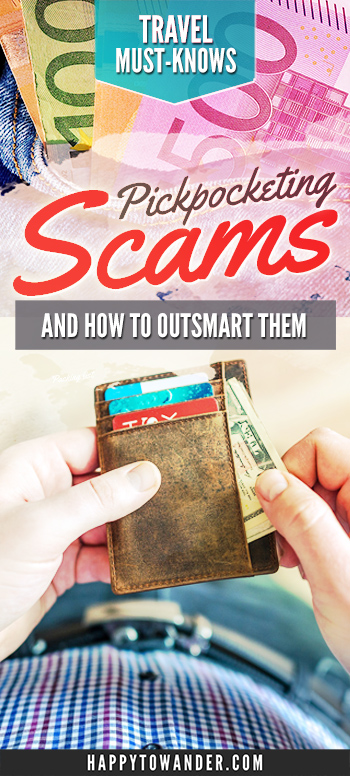 These common pickpocketing scams are ALL over Europe!! Make sure to save this list to learn how to outsmart pickpockets in Europe and travel around safely, without worry. #Europe #Travel #Scams