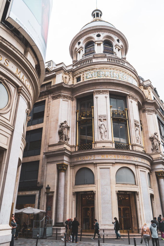 Printemps department store in Paris, France
