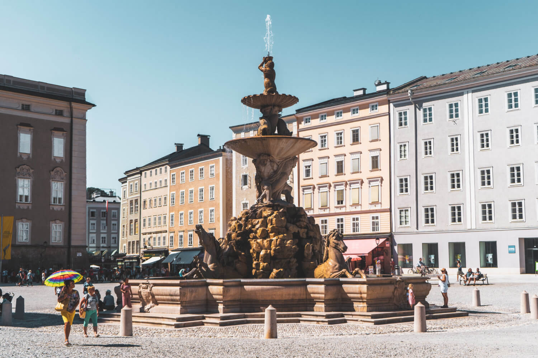 Residenzplatz in Salzburg Austria