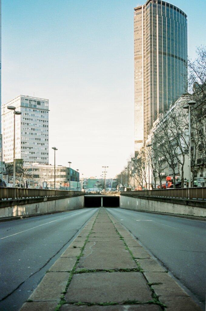 Empty road in Paris