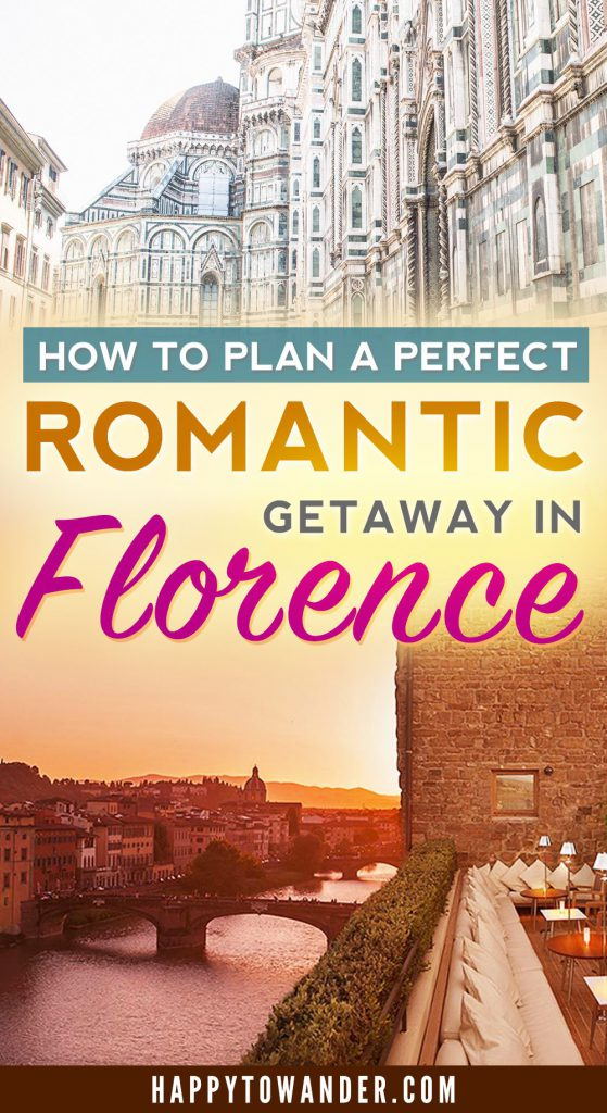 The ultimate romantic getaway for a weekend is Florence, Italy! Amazing food, beautiful architecture and delightful ways to spoil/pamper your partner. Here's the best guide online for planning a Florence romantic getaway!