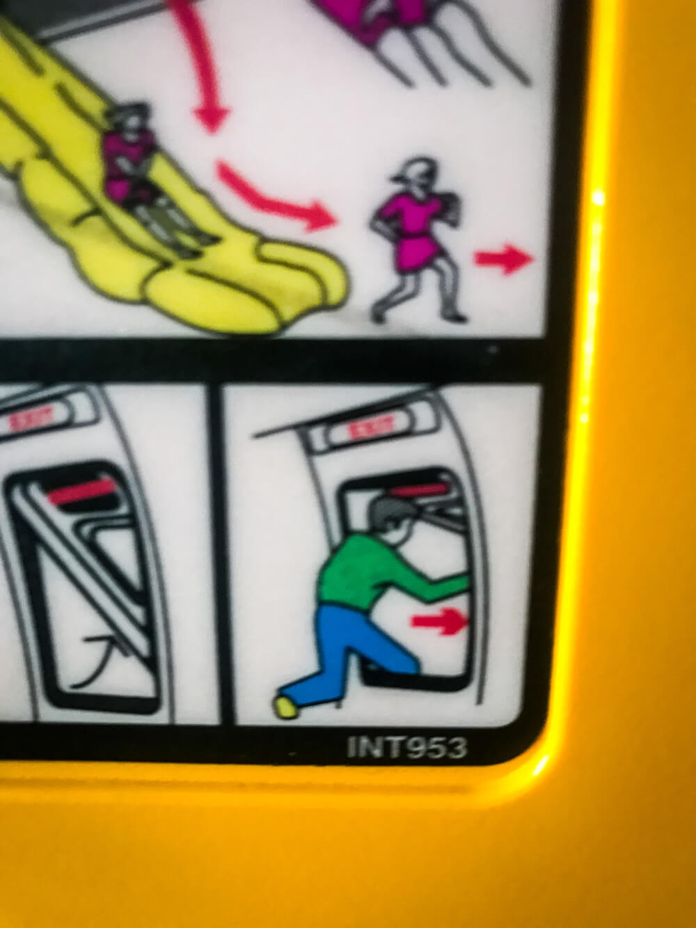 RyanAir safety instructions behind seat