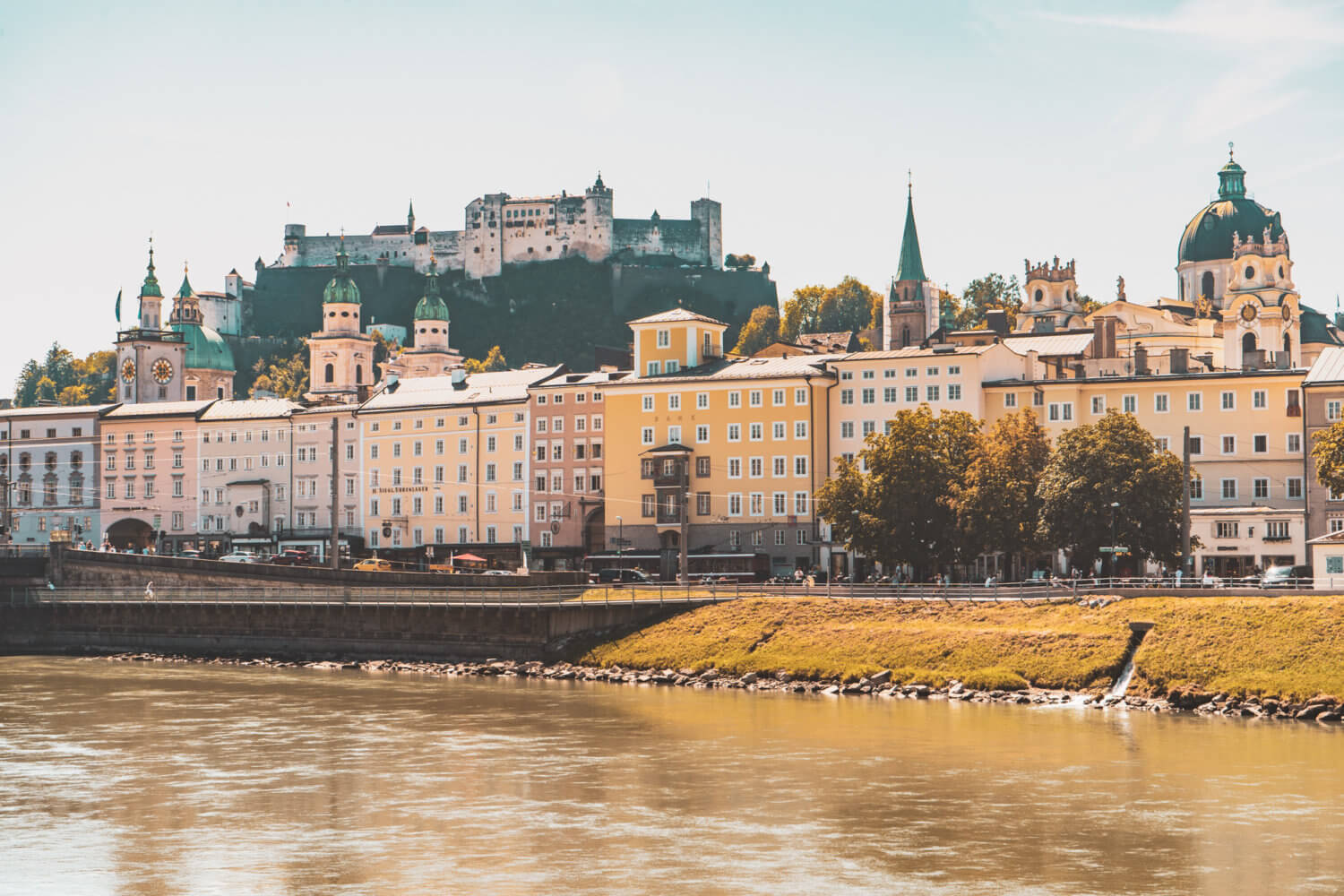 View of Salzburg from the Salzach River