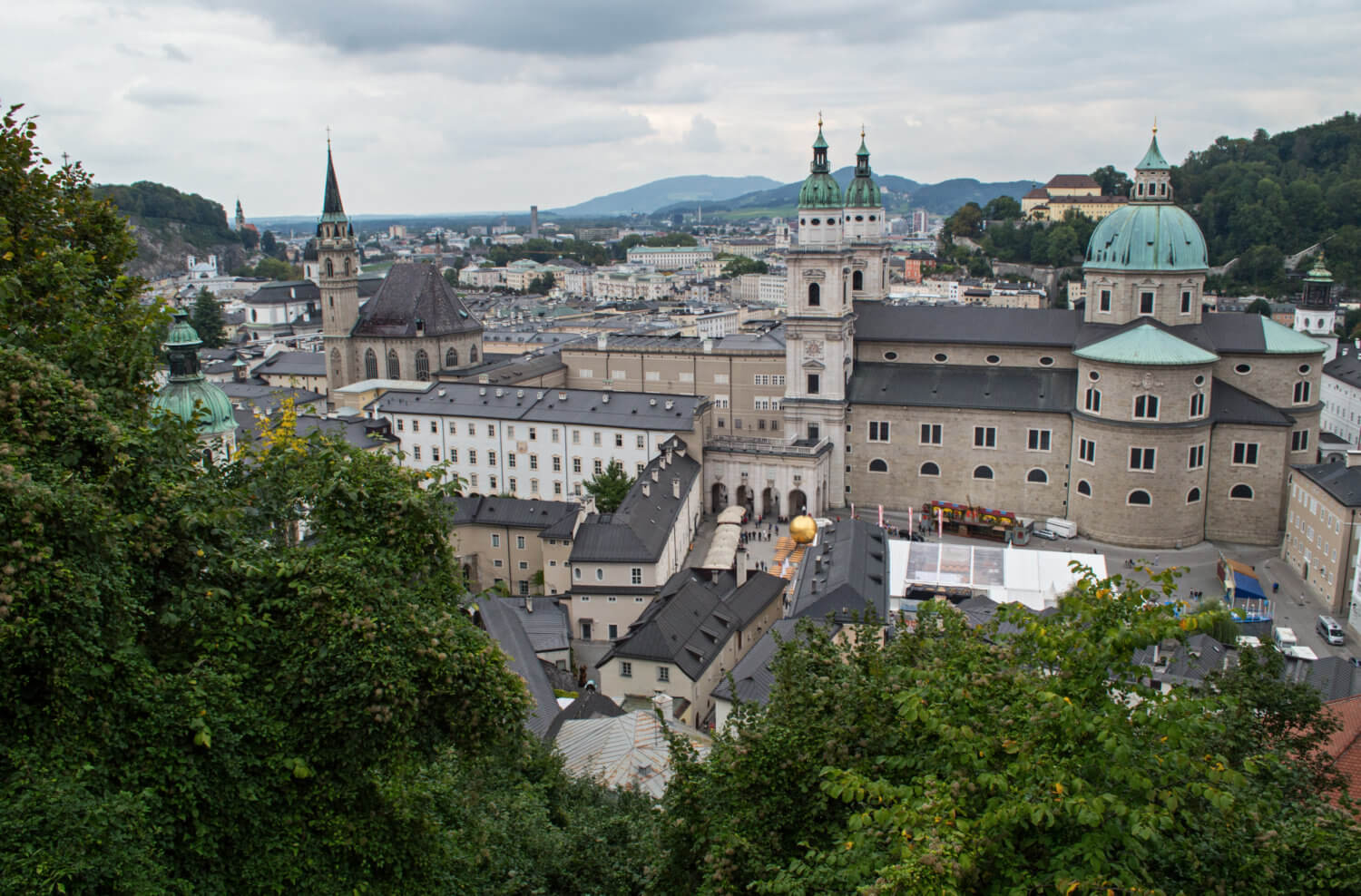 Beautiful view over Salzburg