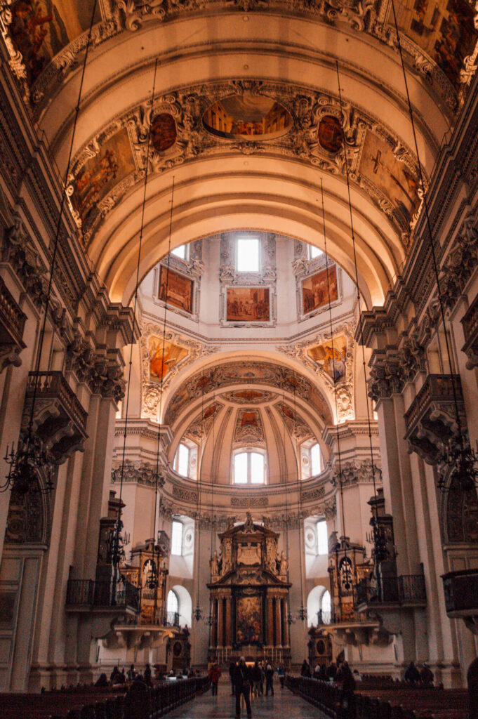 Interior of a beautiful church in Salzburg, Austria