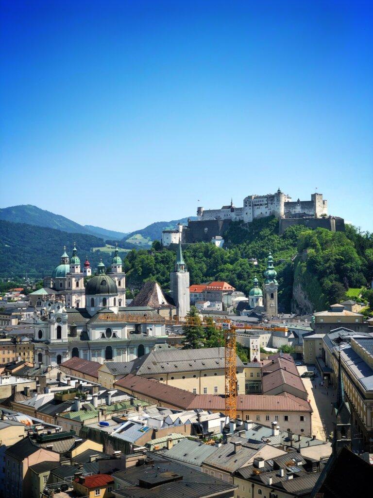 Beautiful view overlooking Salzburg, Austria