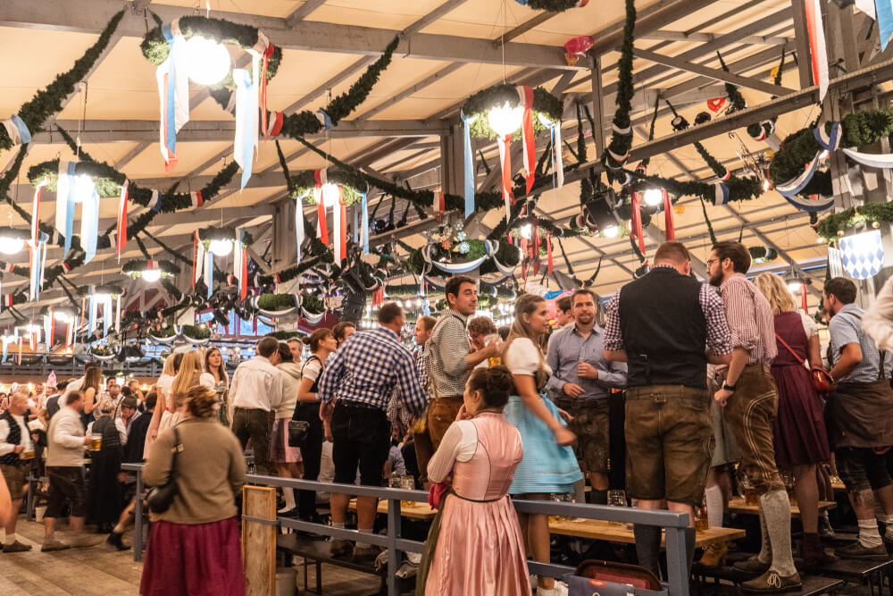 Schottenhammel tent at Oktoberfest in Munich, Germany