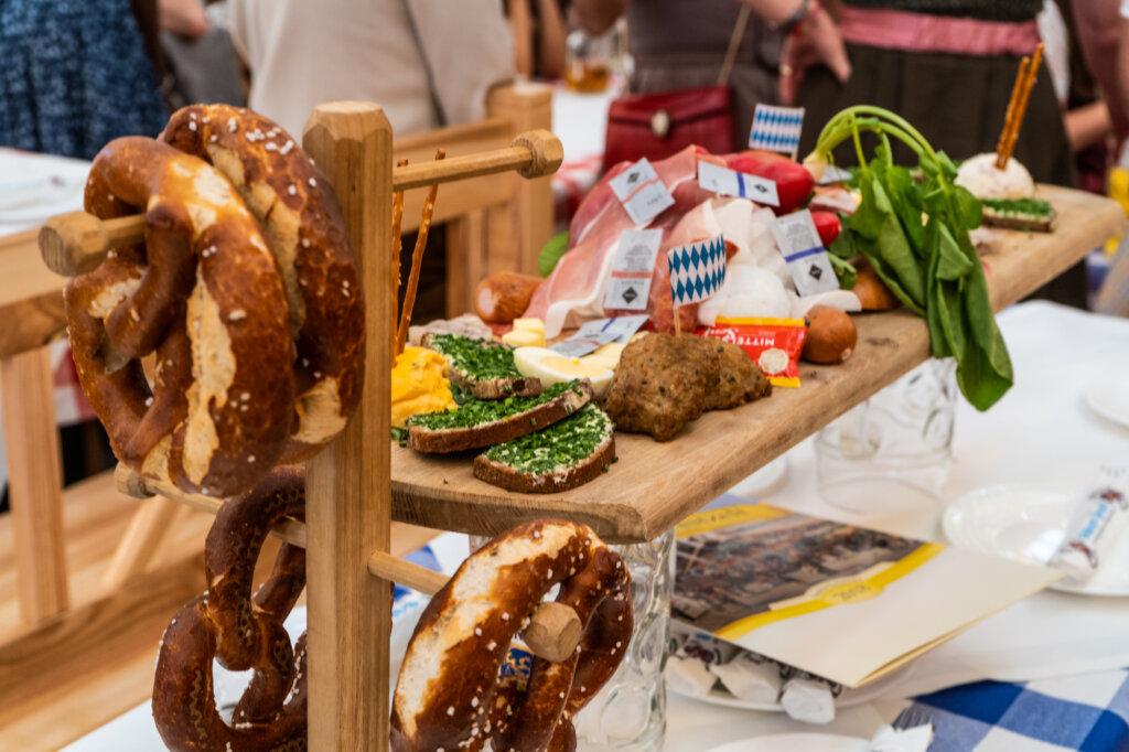 A Brotzeit platter as seen at Oktoberfest
