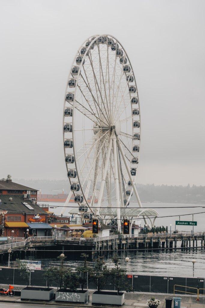 Great Wheel along the water in Seattle