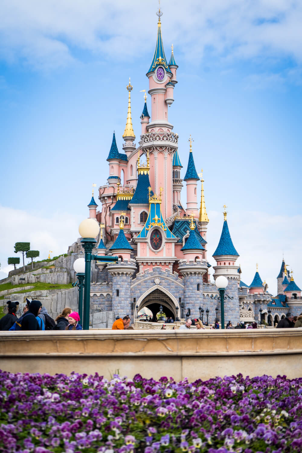 Disneyland Paris castle at Disneyland Park in Marne la Vallee, France