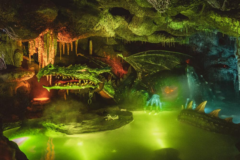 Dragon inside the Disneyland Paris castle at Disneyland Park in Marne la Vallee, France