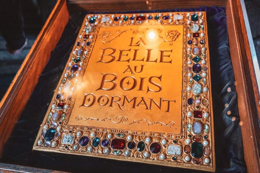 Storybook inside the Disneyland Paris castle at Disneyland Park in Marne la Vallee, France