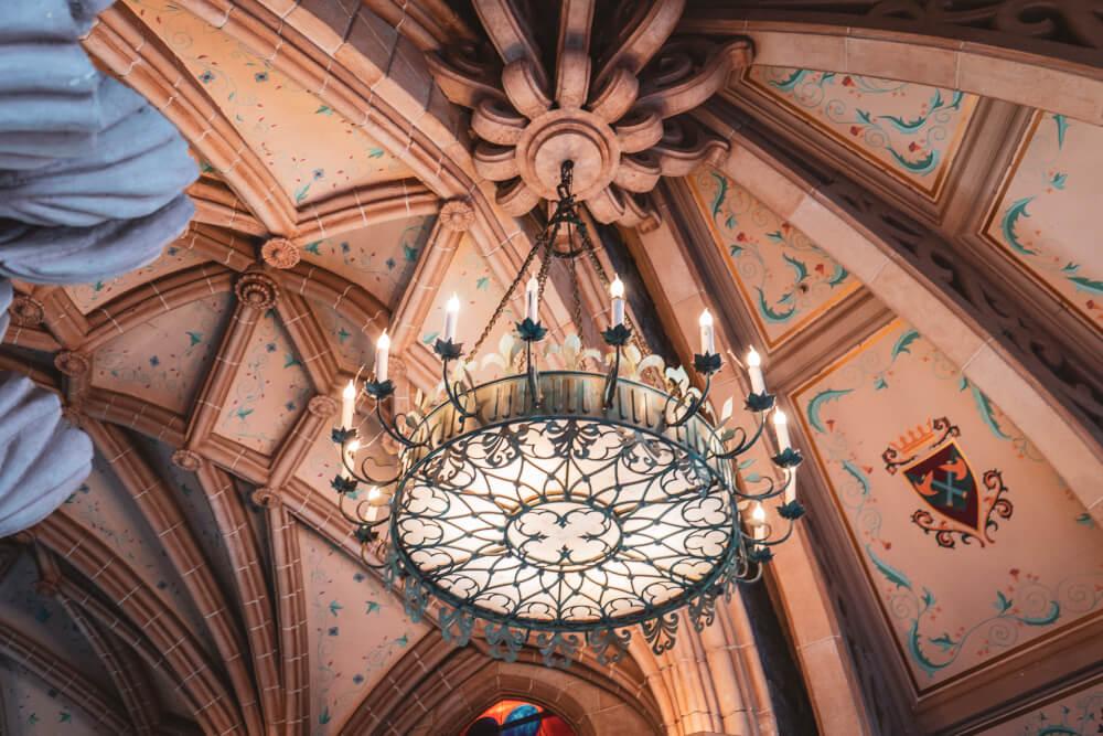 Interior of the Disneyland Paris castle at Disneyland Park in Marne la Vallee, France