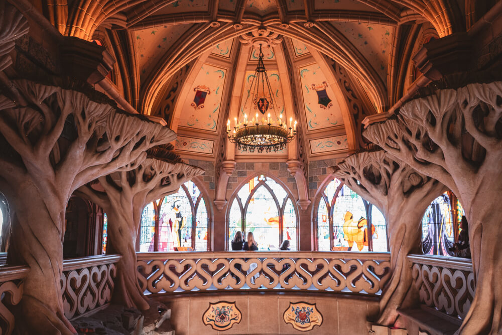 Interior of the Disneyland Paris castle at Disneyland Park in Marne la Vallee, France