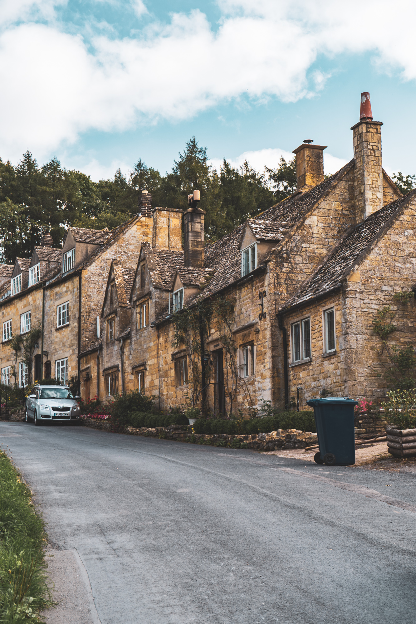 A beautiful row of houses in Snowshill, England.