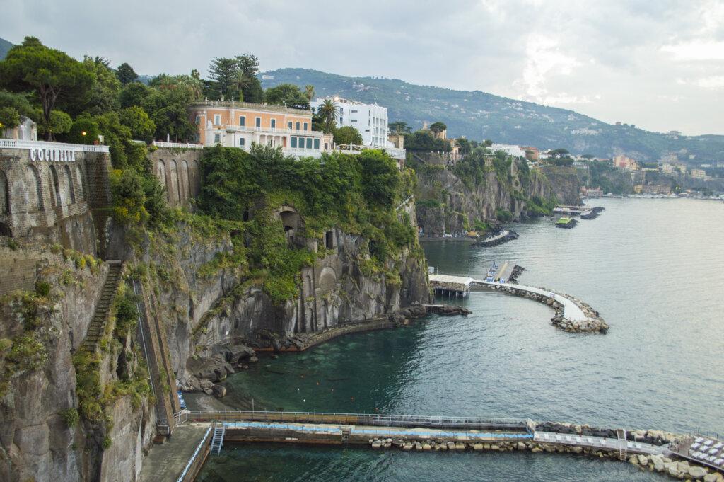 Coastal view in Sorrento, Italy