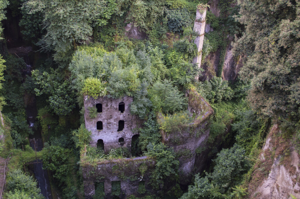 VALLONE DEI MULLINI, an abandoned mill in Sorrento, Italy