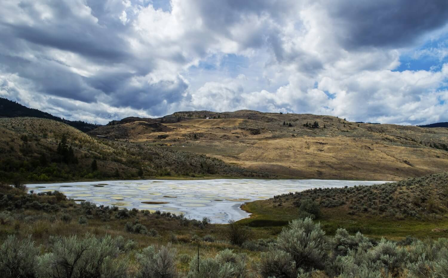 Spotted Lake in Osoyoos, Canada - an incredible hidden gem that is a must for your next visit to British Columbia, Canada and the Okanagan.