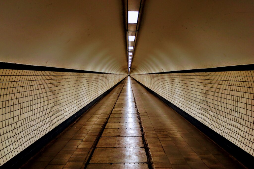 St Anna Pedestrian tunnel in Antwerp