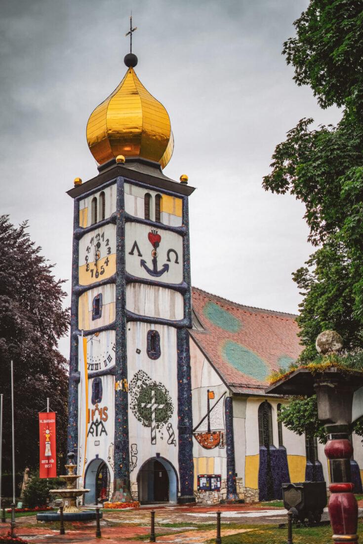 St Barbara's Church in Bärnbach, Austria