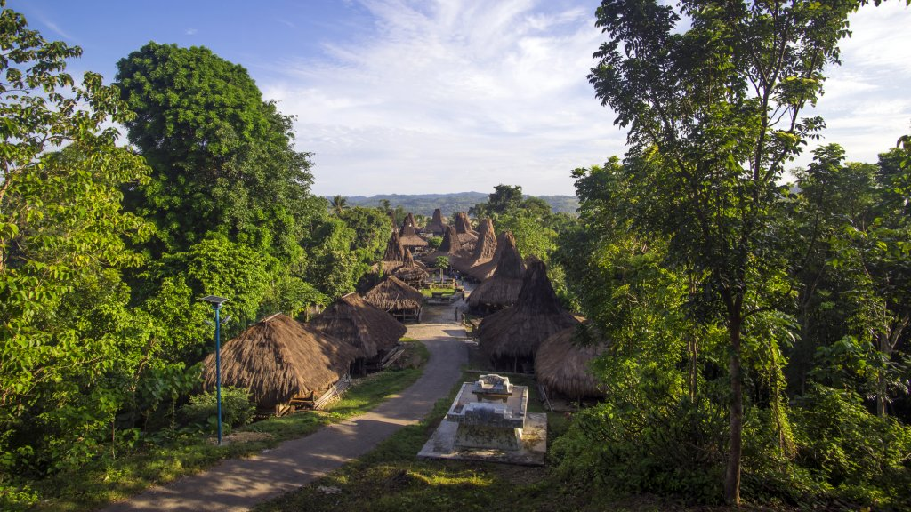 Straw houses in Sumba, Indonesia