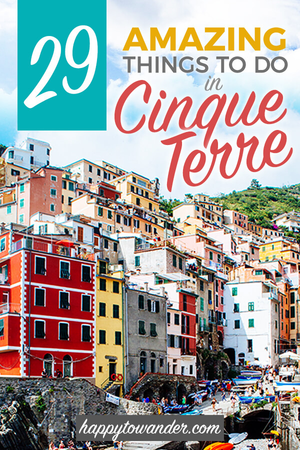 An incredible roundup of the best things to do in Cinque Terre, Italy ft. gorgeous Cinque Terre photography and a comprehensive list of things to do in Manarola, Monterosso, Vernazza, Riomaggiore and Monterosso al Mare, all five villages that make up the Cinque Terre. #Italy #Europe