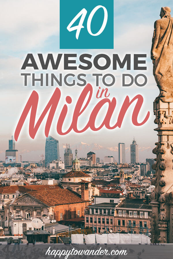 These are INCREDIBLE things to do in Milan, Italy that are a must for your next trip. Includes tips on Milan food, Milan fashion, design, free activities, Lake Como and more. Add this to your bucket lists! #Italy #Travel #Milan