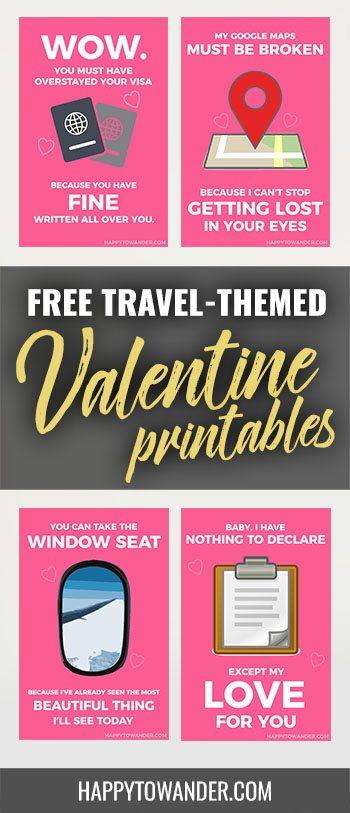 8 Travel Themed Valentines For Your Globetrotting
