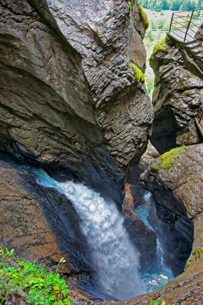 Trummelbach Falls, an epic set of waterfalls in Lauterbrunnen.