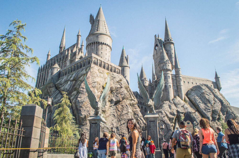 Christina Guan at the Wizarding World of Harry Potter at Universal Studios Hollywood in Los Angeles
