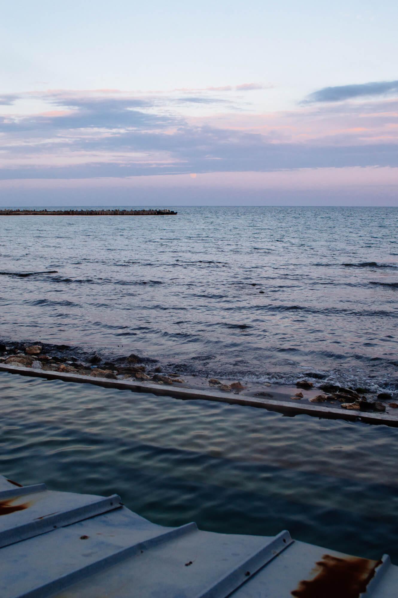 Sunset at Toplata voda in Varna