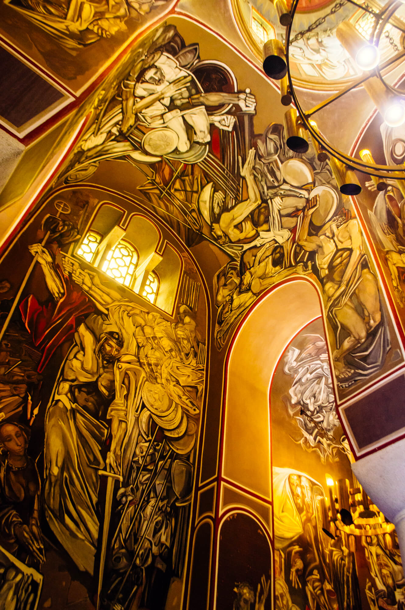 Frescos at Patriarchal Cathedral of the Holy Ascension of God in Veliko Tarnovo, Bulgaria