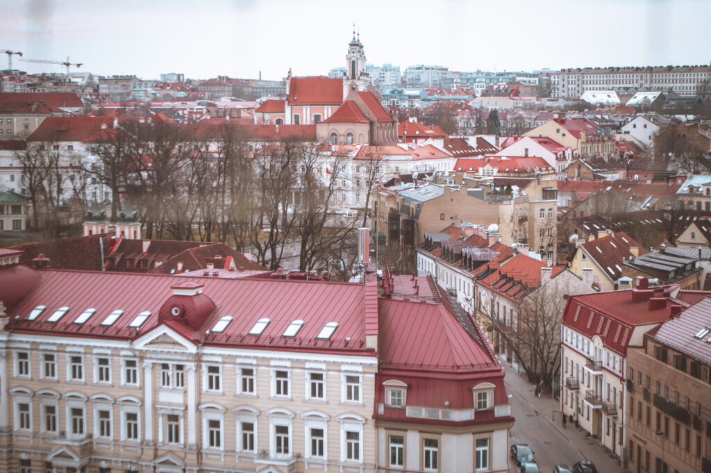 View of Vilnius, Lithuania from the Cathedral Bell Tower