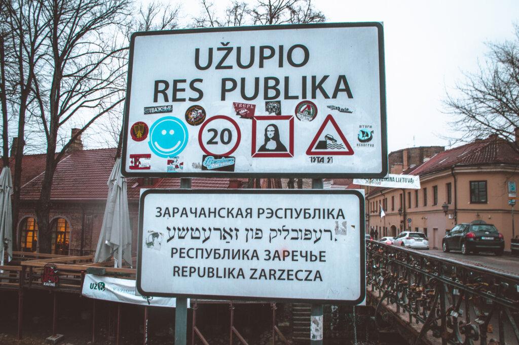 Republic of Užupis sign
