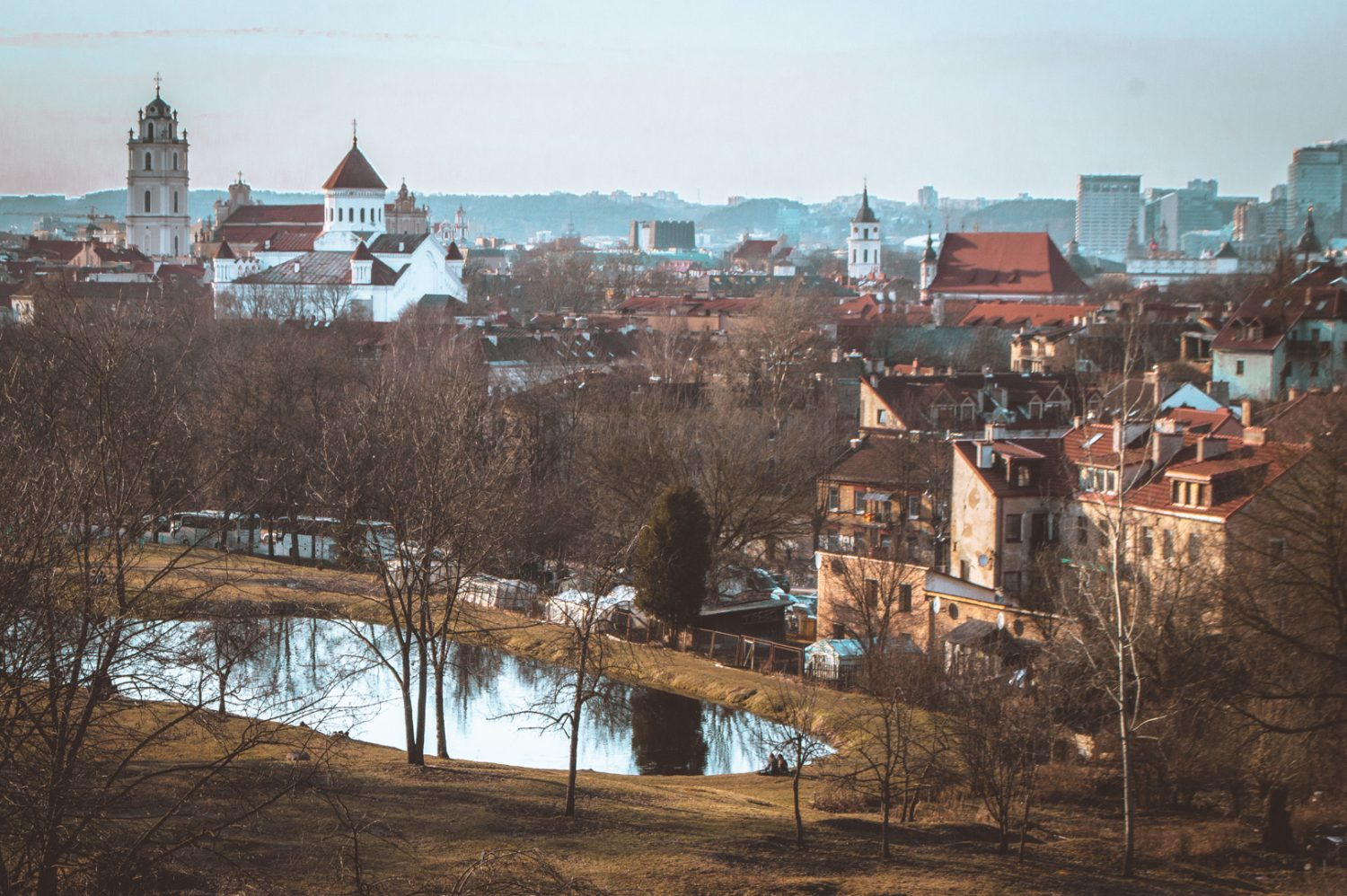 View of Vilnius, Lithuania from the Subačiaus Street Lookout