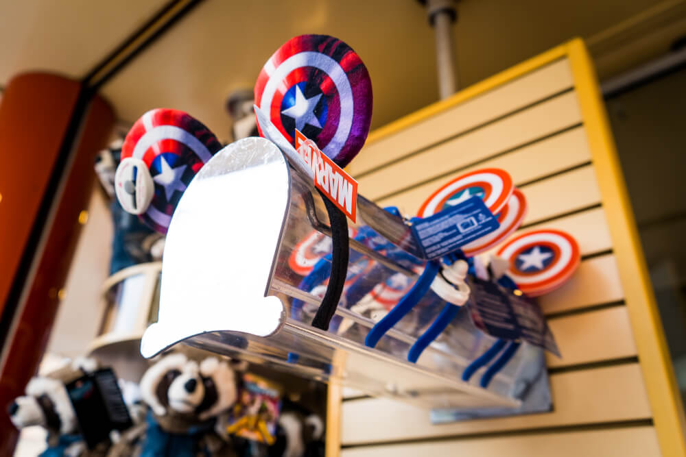 Captain America ears at the Marvel Season of Heroes in Disneyland Paris