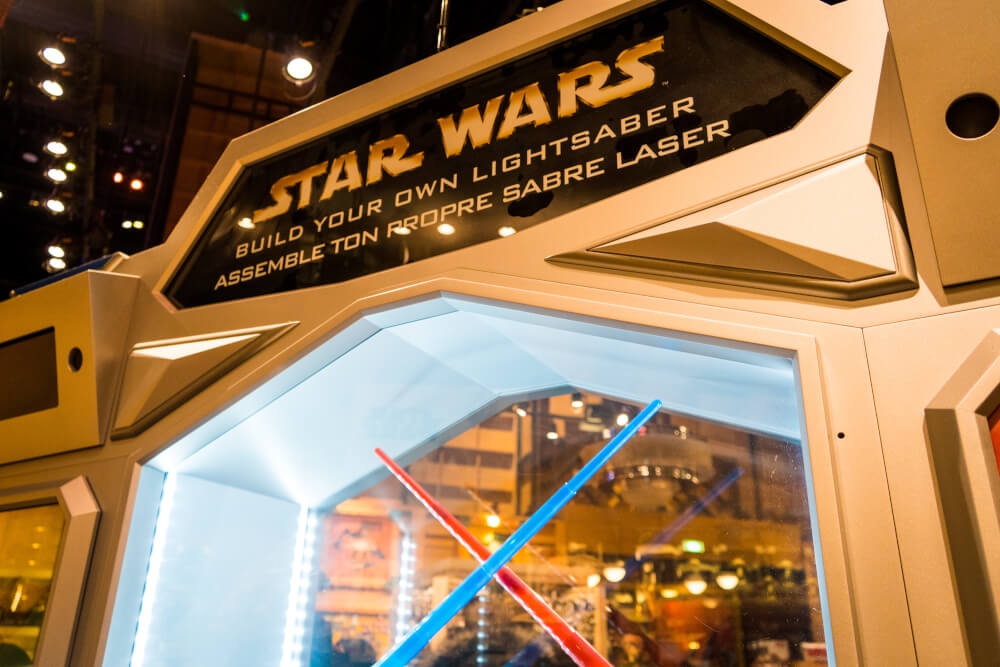 Build your own lightsaber at Disneyland Paris