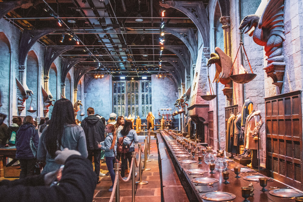 Hogwarts Great Hall at the Leavesden Studios for Harry Potter