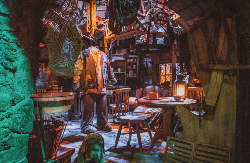 Hagrid's Hut on the Warner Bros Studio Tour in Leavesden