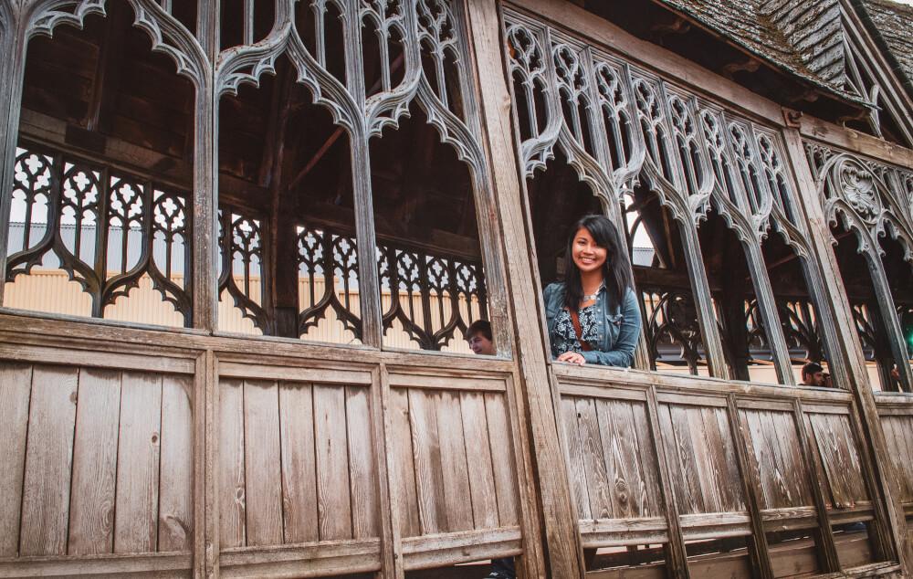 Hogwarts Bridge at the Harry Potter studio tour in Leavesden, England