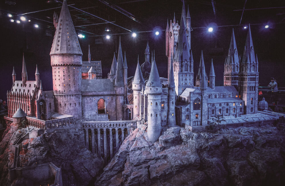 Hogwarts model at the Warner Bros Studio Tour in London