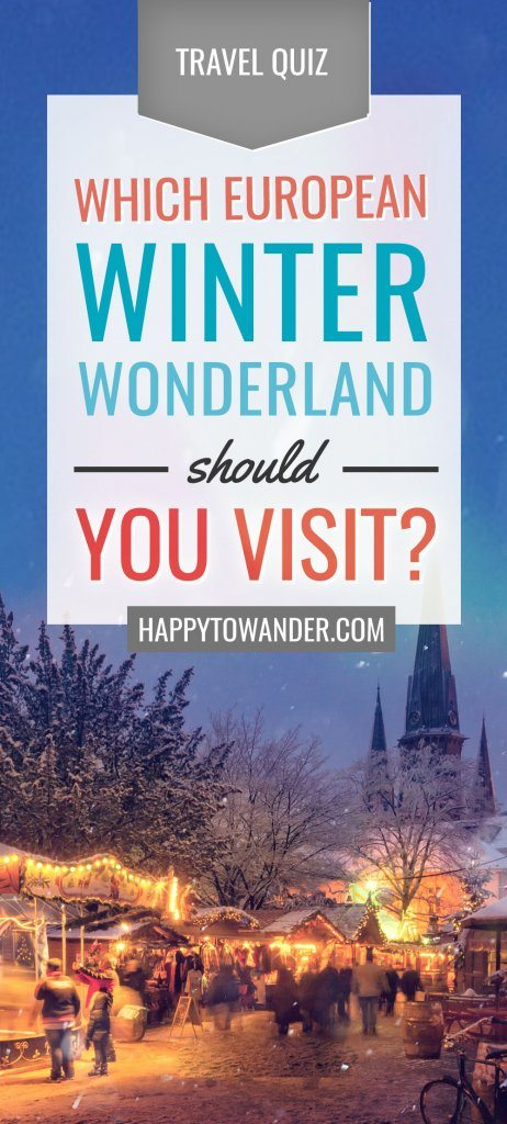 Where should you go in Europe this winter?? This awesome quiz helps you decide where your next European winter destination should be! #Europe #Travel #Quiz